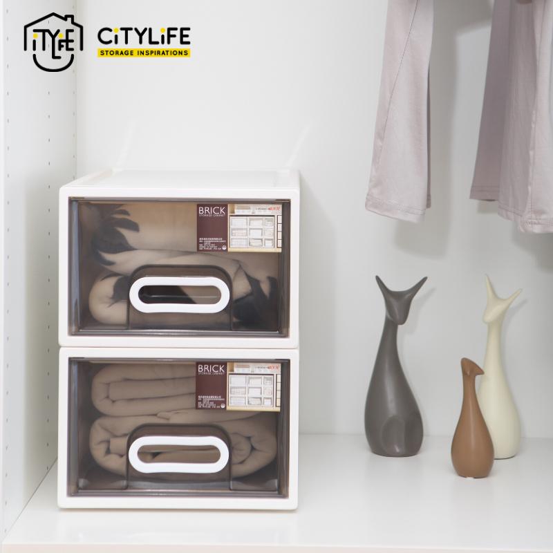 [BUNDLE OF 2] - Citylife Brick Single Tier Drawer 15L