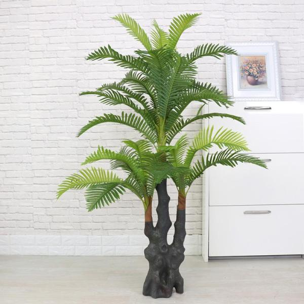 Fake Areca Palm Artificial Plant Potted Plant Snnei Decoration Large Green Plant Living Room Kwai Tree Landing Plastic Flowers Asian Creative Luxury Art Works