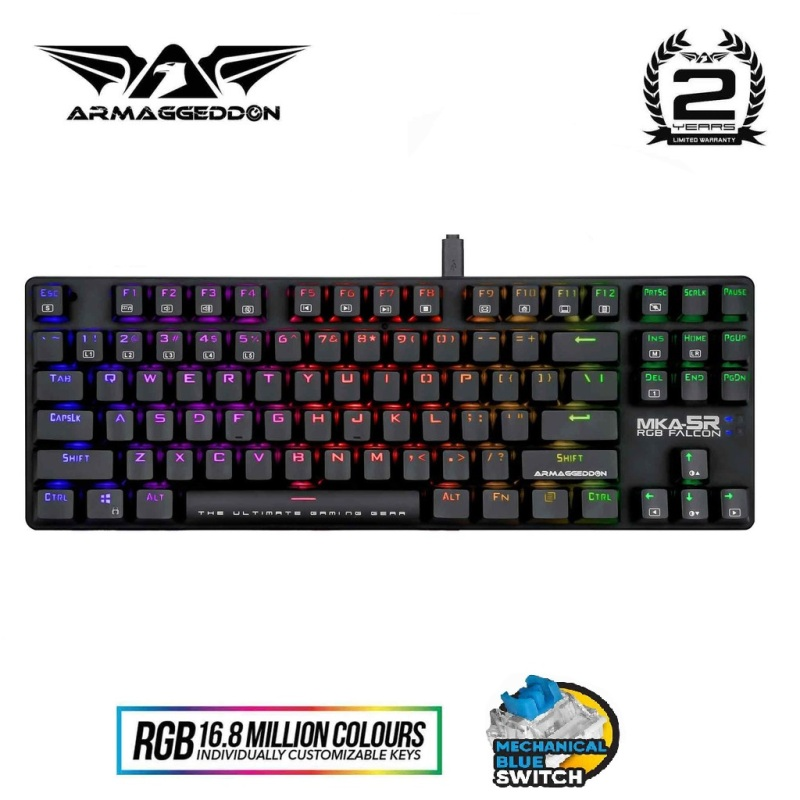 Armaggeddon MKA-5R RGB Falcon Mechanical Gaming Keyboard With RGB Light Effect [Blue Switch] Singapore