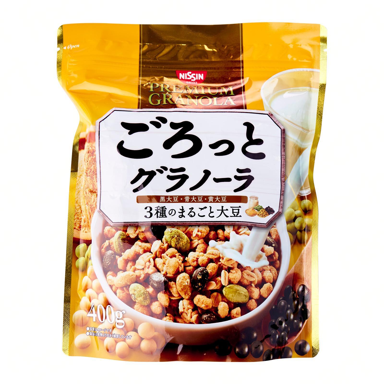Nissin Gorotto 3 Kinds Of Soybean Breakfast Granola