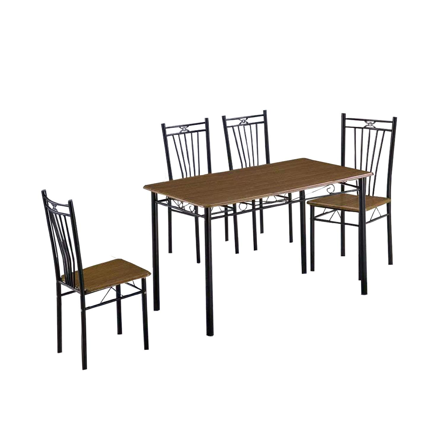LIVING MALL_Narito Dining Set in Cappuccino_FREE DELIVERY
