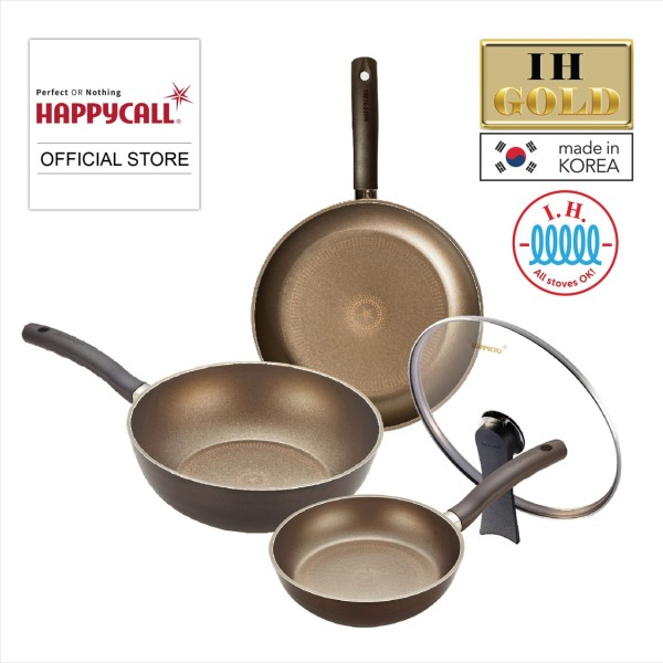 Happycall IH GOLD 4-Pc Cookware Set - 3900-0174 (8.8 SALES) Singapore