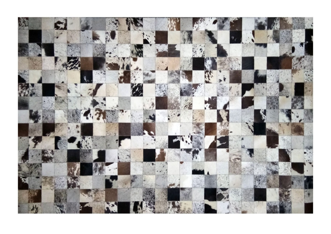 CP 128A Cowhide Leather Rug