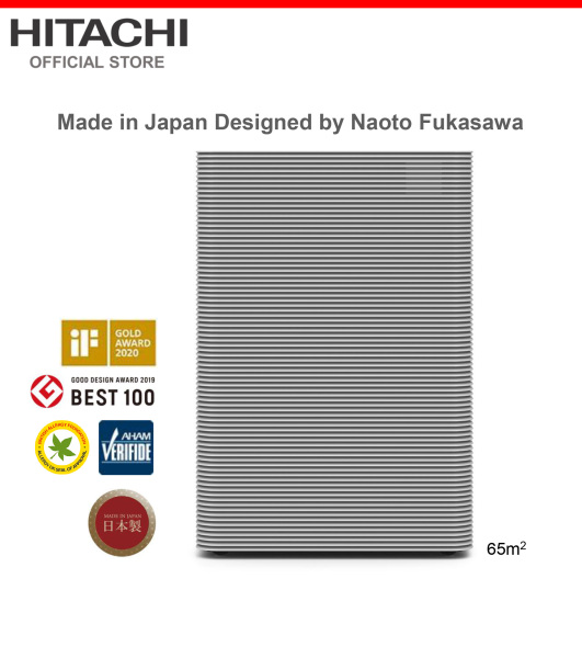 Made In Japan, Hitachi, Massive Air Volume of 12m3/min, Captures Particles as Small as 0.02μm, Antimicrobial Allergen-free HEPA Filter, PM2.5 Sensor, 65 metre square, EP-PF90J Singapore