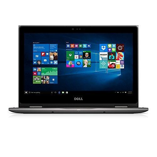 Dell i5368-0502GRY 13.3 FHD 2-in-1 Laptop (Intel Core i3-6100U 2.3GHz Processor, 4 GB RAM, 500 GB HDD, Windows 10) Gray