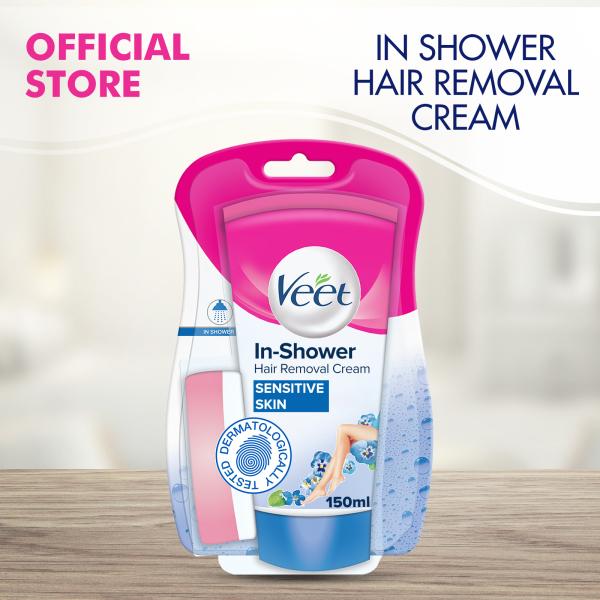 Buy Veet In-Shower Hair Removal Cream for Sensitive Skin - 150ml Singapore