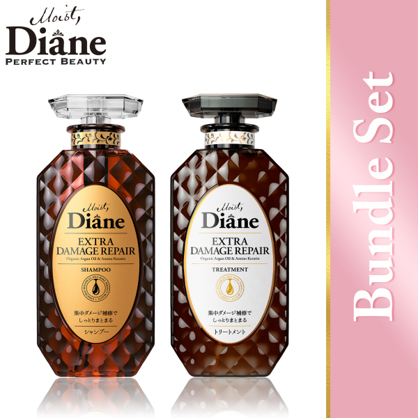 Buy Moist Diane Perfect Beauty Extra Damage Repair Shampoo (450ml) + Extra Damage Repair Treatment (450ml) Singapore
