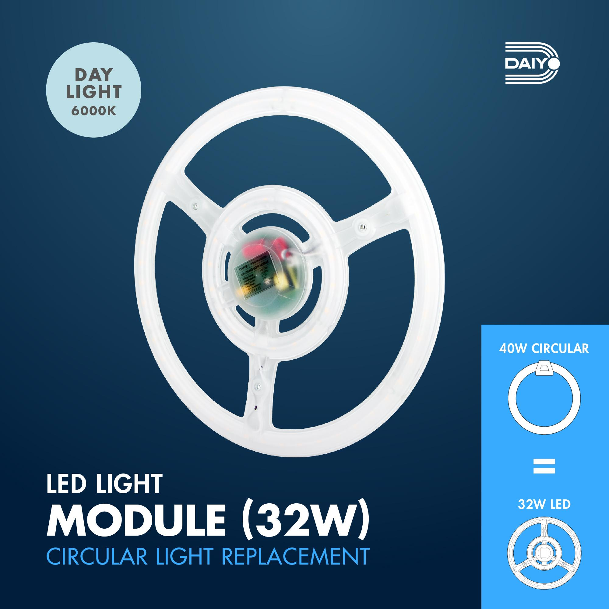 32W LED Round Shape Circular Magnetic Base Ceiling Panel (Day Light)