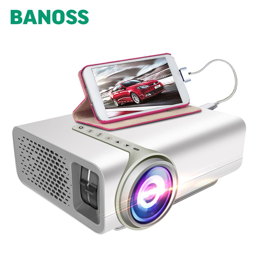 36fac7e48e957c BANOSS YG520 Portable Projector High Brightness LCD Mini Projector Support  HDMI VGA USB SD 1080P Full