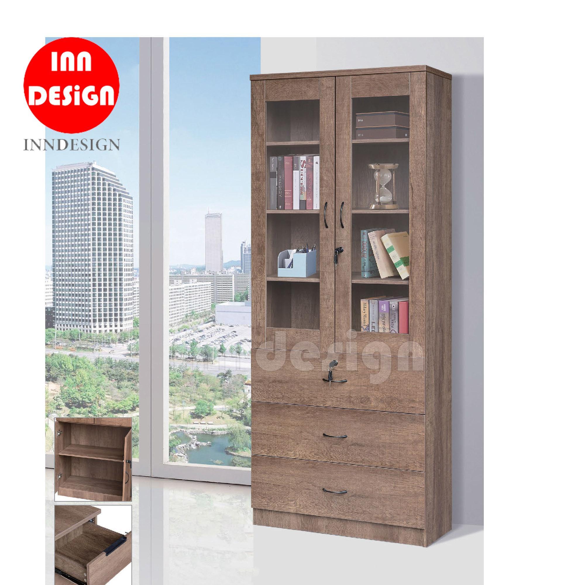 Javan II Display Bookshelf with Drawers