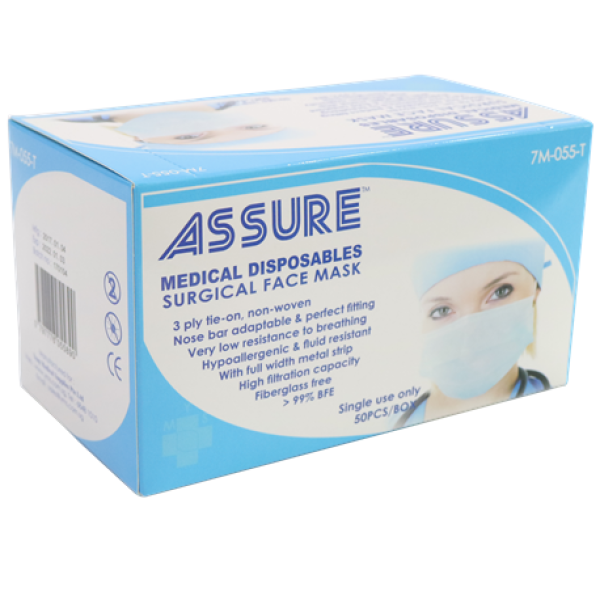Buy Assure Surgical Mask (tie-on) 2 boxes Singapore