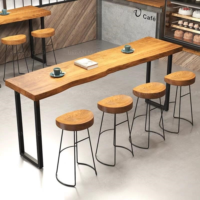 STARBUCKS Rustic Wooden Bar Table & Stool