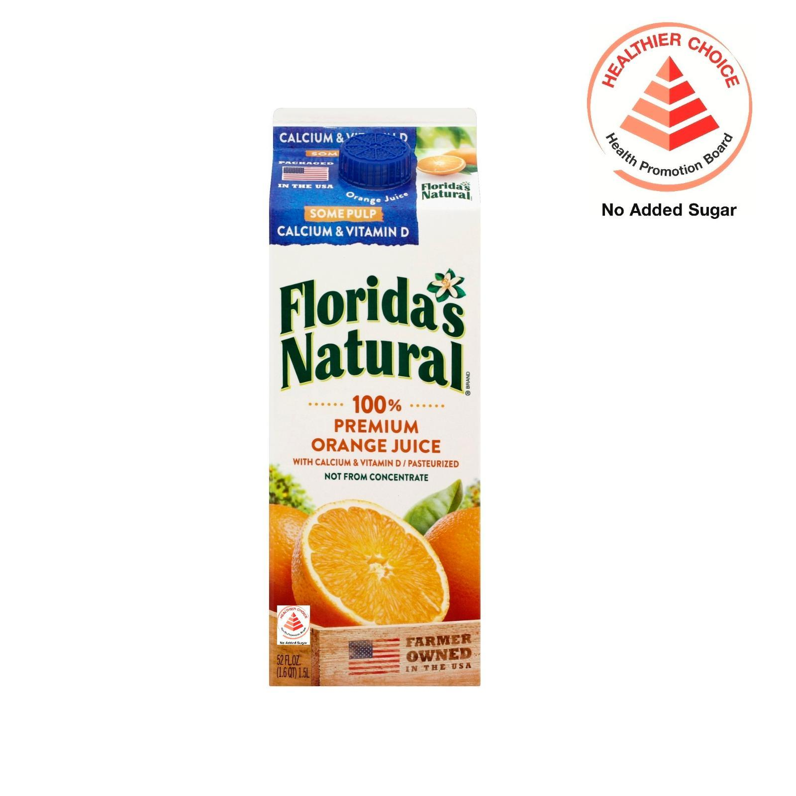 Florida's Natural NFC Home Squeeze with Calcium and Vitamin D (Some Pulp) Orange Juice