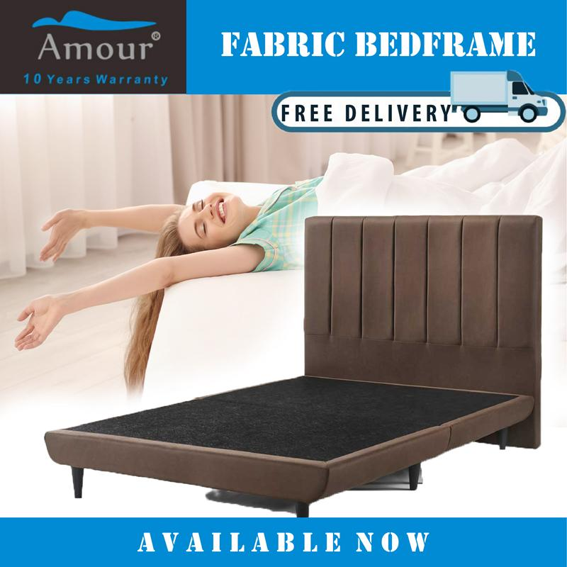 AMOUR BRAND QUEEN / KING SIZE PREMIUM FABRIC BED / FREE DELIVERY / 10 YEARS WARRANTY