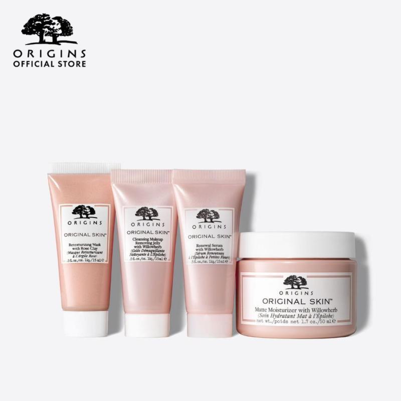 Buy [Limited Edition] Origins - 4-pc Original Skin Set - Makeup Remover + Face Serum + Matte Moisturizer + Face Mask - GLOW AS YOU GO: Original Skin Glow-Boosting Kit Skincare Set (Worth $115) Singapore