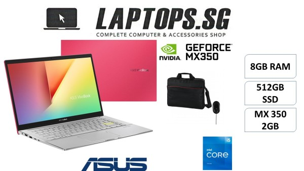 ASUS S433EQ-AM134T i5-1165G7 (2.8GHz) 8GB RAM 512GB SSD 14 FULL HD IPS DISPLAY WINDOWS 10 MX 350 2GB GEFORCE GRAPHICS BRAND NEW