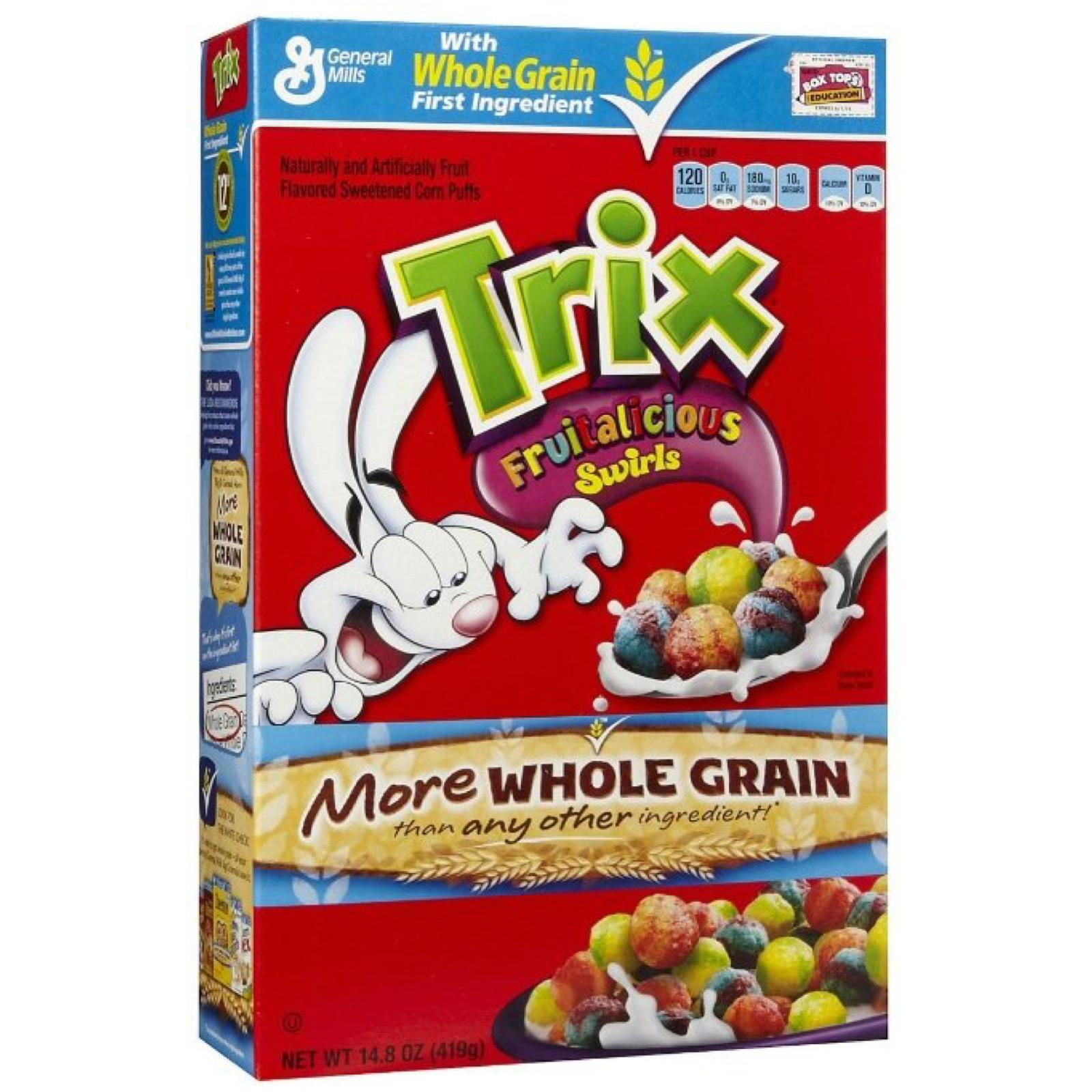 General Mills Trix Fruity Sweetened Corn Puffs Cereal