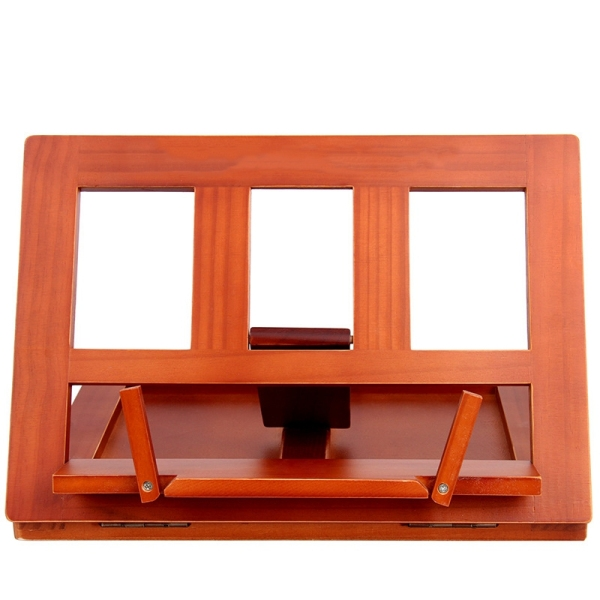 Foldable Wood Reading Frame Tablet Stand Portable Bookshelf Cookbook Holder Music Folder Wooden Laptop Tablet IPAD Stand Holders