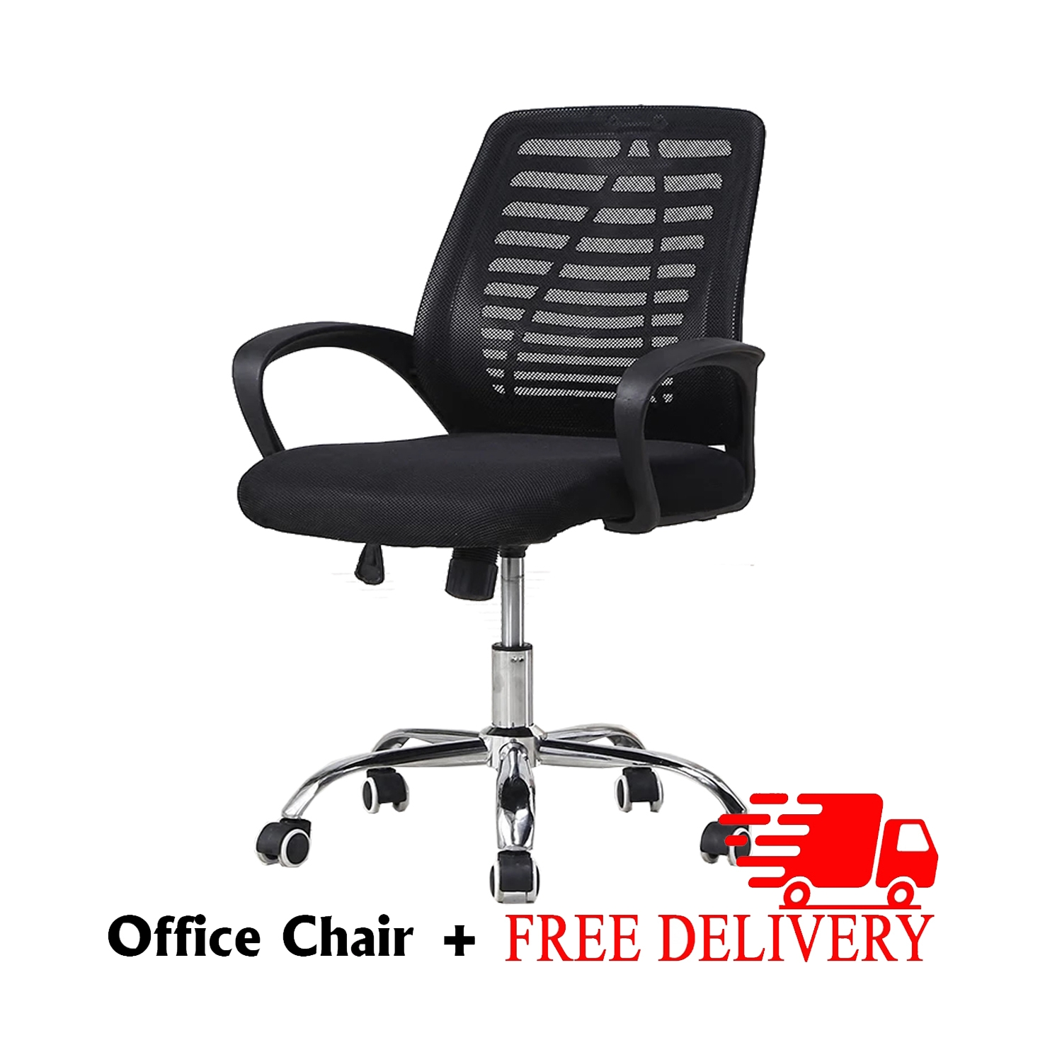 [FurnitureMartSG] Wisteria Office Chair in Black_FREE DELIVERY + FREE INSTALLATION