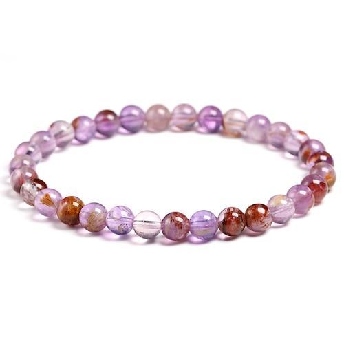 Genuine Natural Auralite 23 Bracelets Natural Stone Stretch Amethyst Round Bead Gem Bracelet Women Men Fine Jewelry Gift.