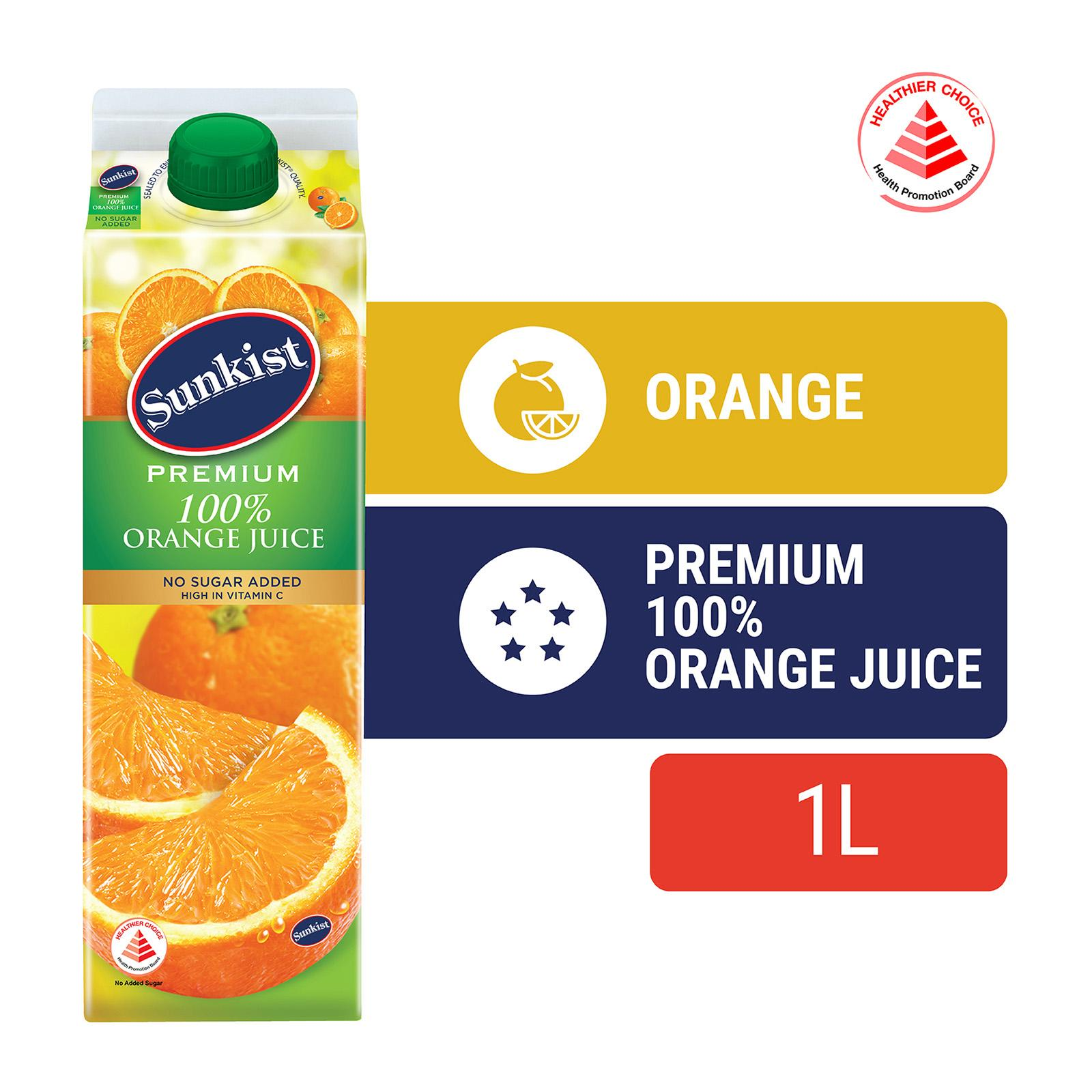Sunkist Premium 100% Orange Juice 1L