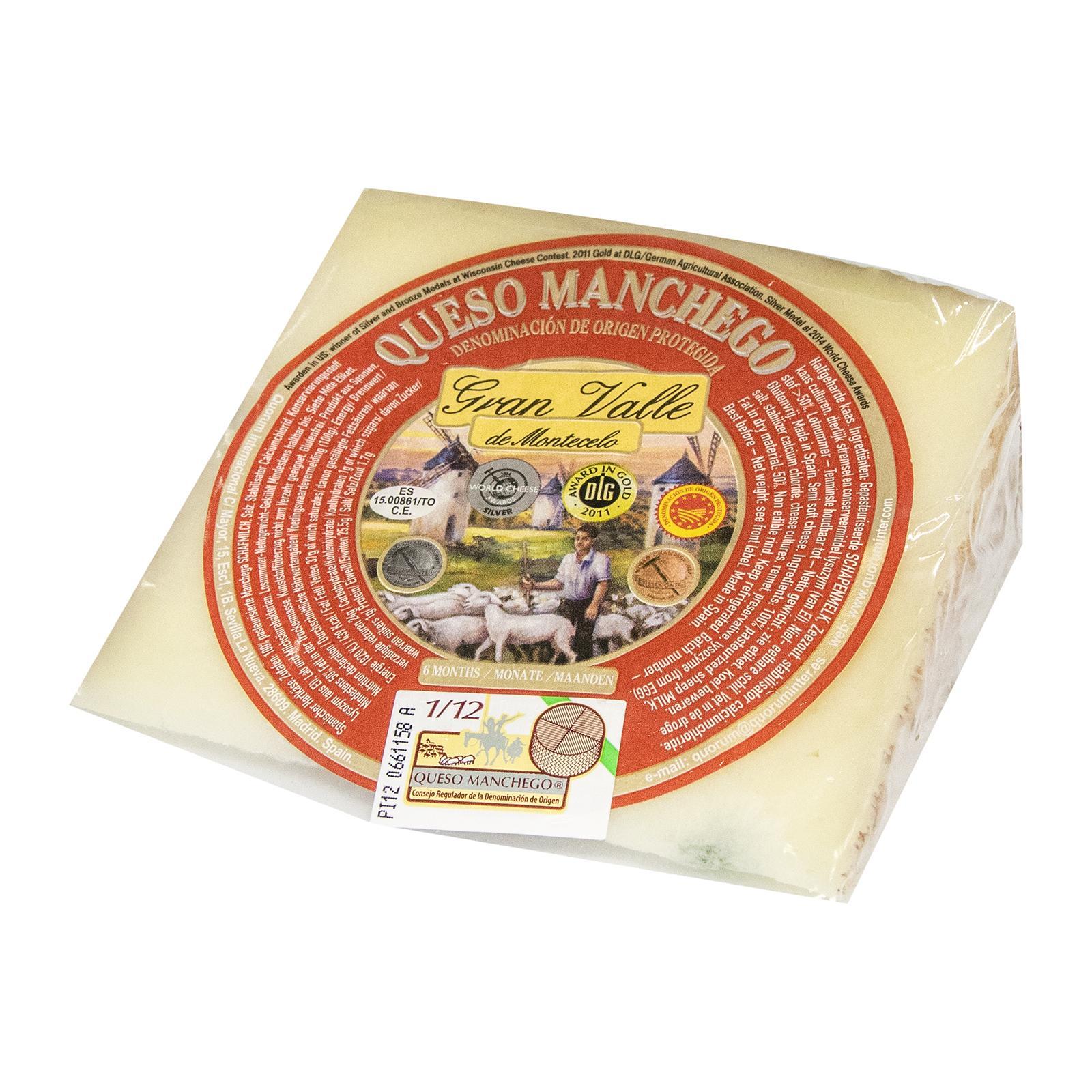 Bonvallis Spanish Cheese Queso Manchego DOP - Gran Valle Montecelo