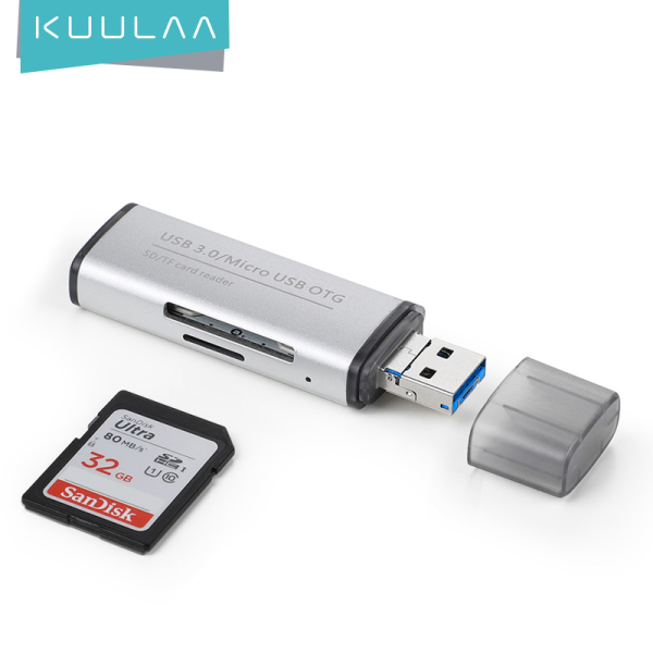 KUULAA All in 1 Memory Card Reader MINI USB 3.0 OTG Micro SD/SDXC TF Card Reader Adapter for PC Laptop Computer Phone