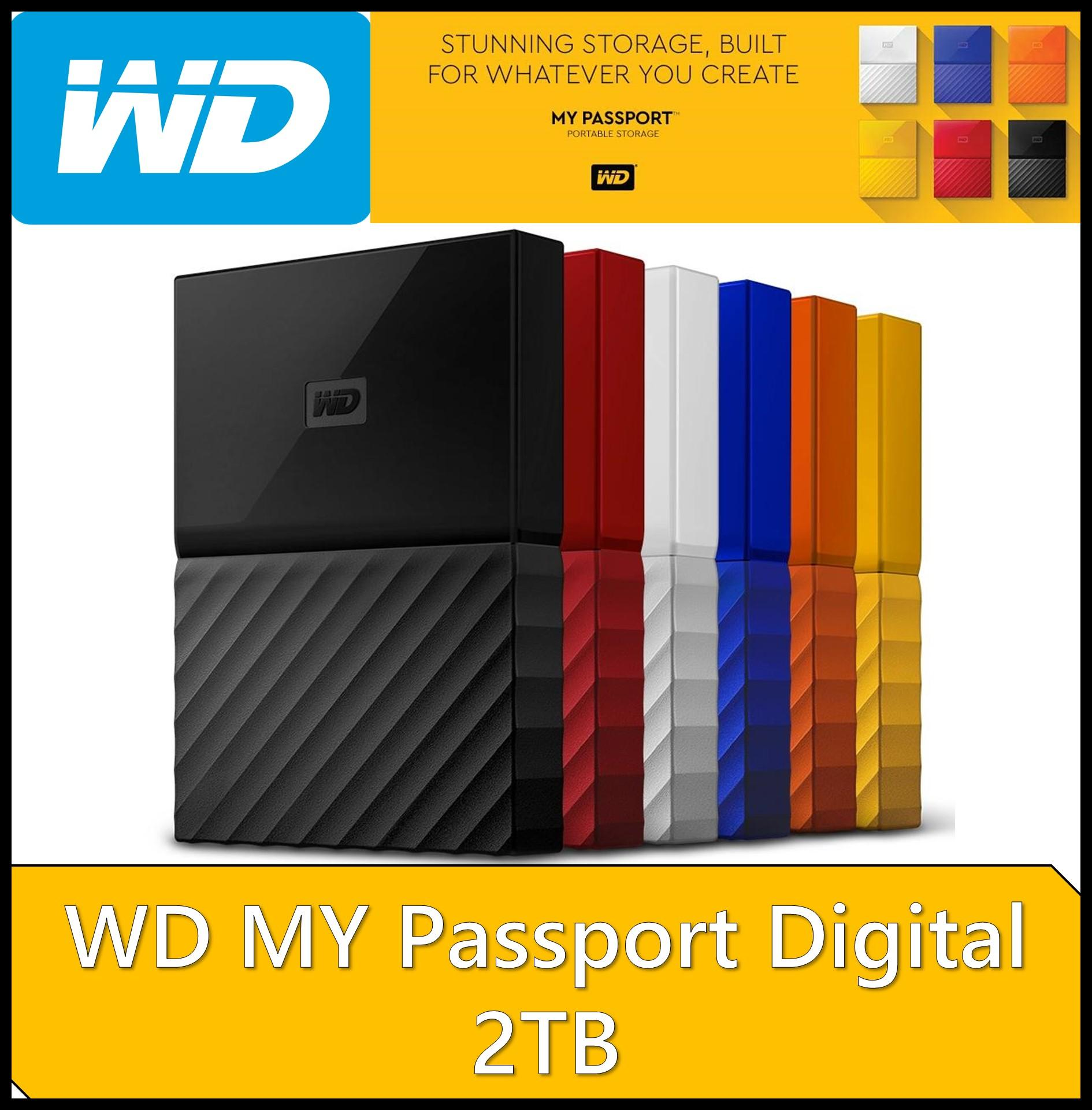 WD 2TB My Passport Portable External Hard Drive (Black)