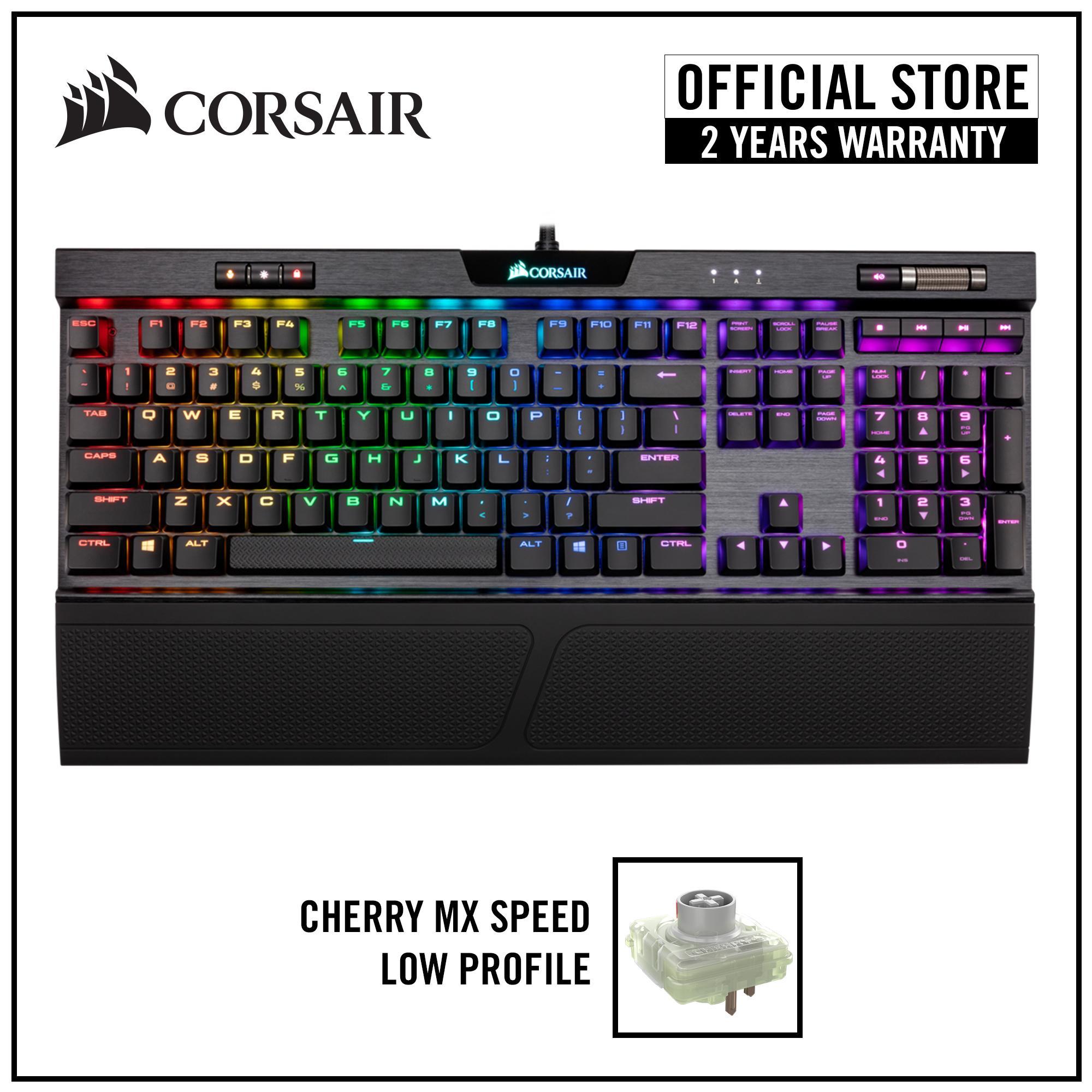 d5c9ab31d3b Corsair K70 RGB MK.2 Low Profile Mechanical Gaming Keyboard - Cherry MX Low  Profile Speed RGB Singapore