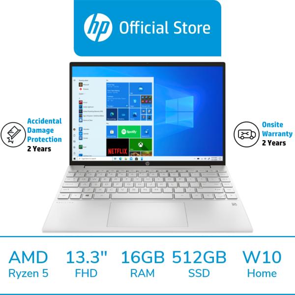 HP Pavilion Aero Laptop 13-be0027AU / AMD Ryzen 5 5600U / 16GB RAM / 512GB SSD / 13.3 FHD / Win 10 / 2 Years Onsite Warranty / 2 Years ADP / McAfee LiveSafe Included / Thin & Light / Portable