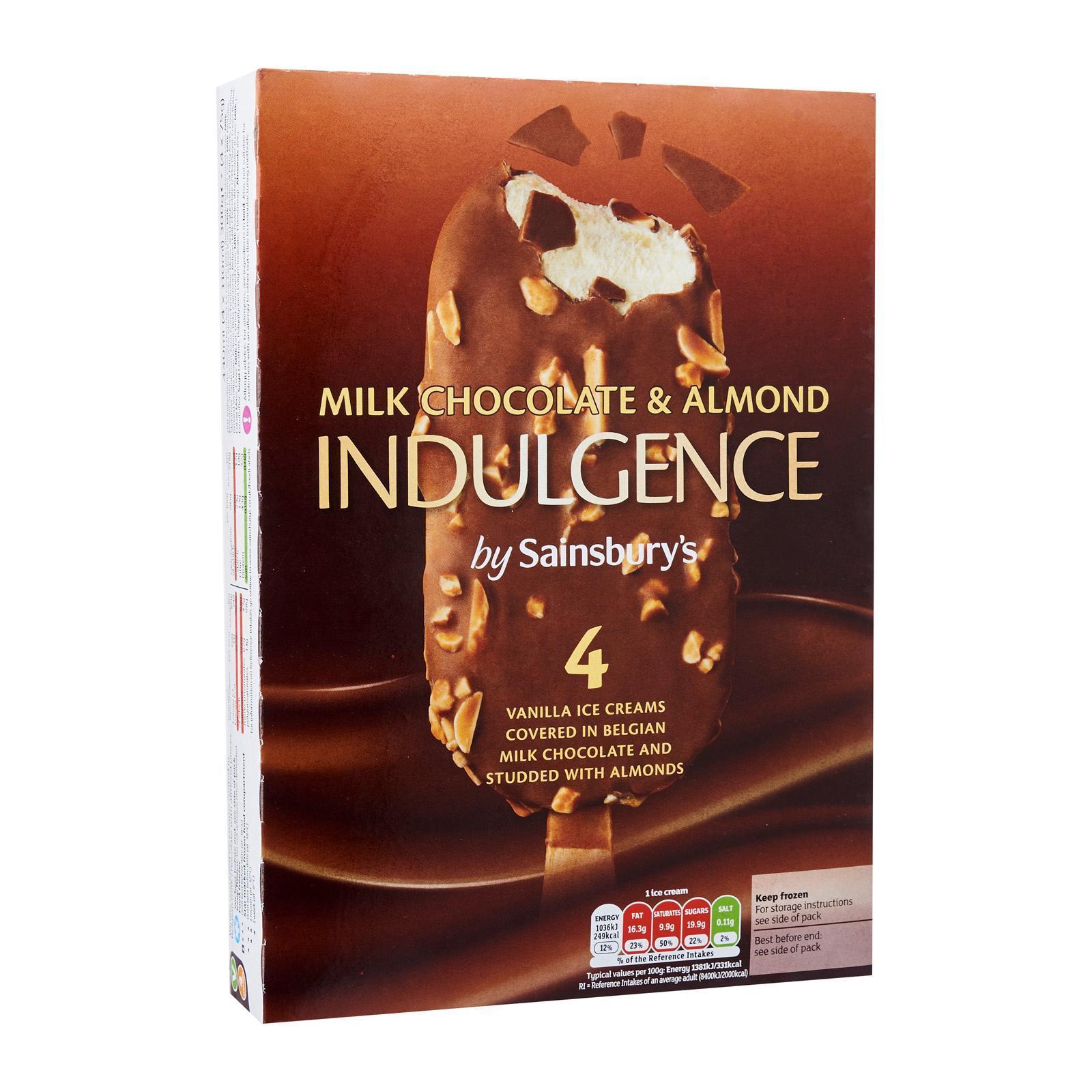 Sainsbury's Almond Indulgence Ice Cream Sticks - Frozen