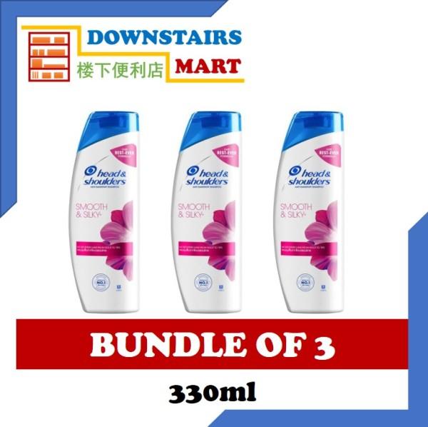 Buy [Bundle of 3] Head & Shoulders Smooth & Silky Shampoo 330ml x 3 Singapore