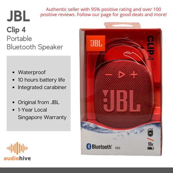 JBL CLip 4 Portable Outdoor Bluetooth Speaker for Sports Clip 4 Singapore
