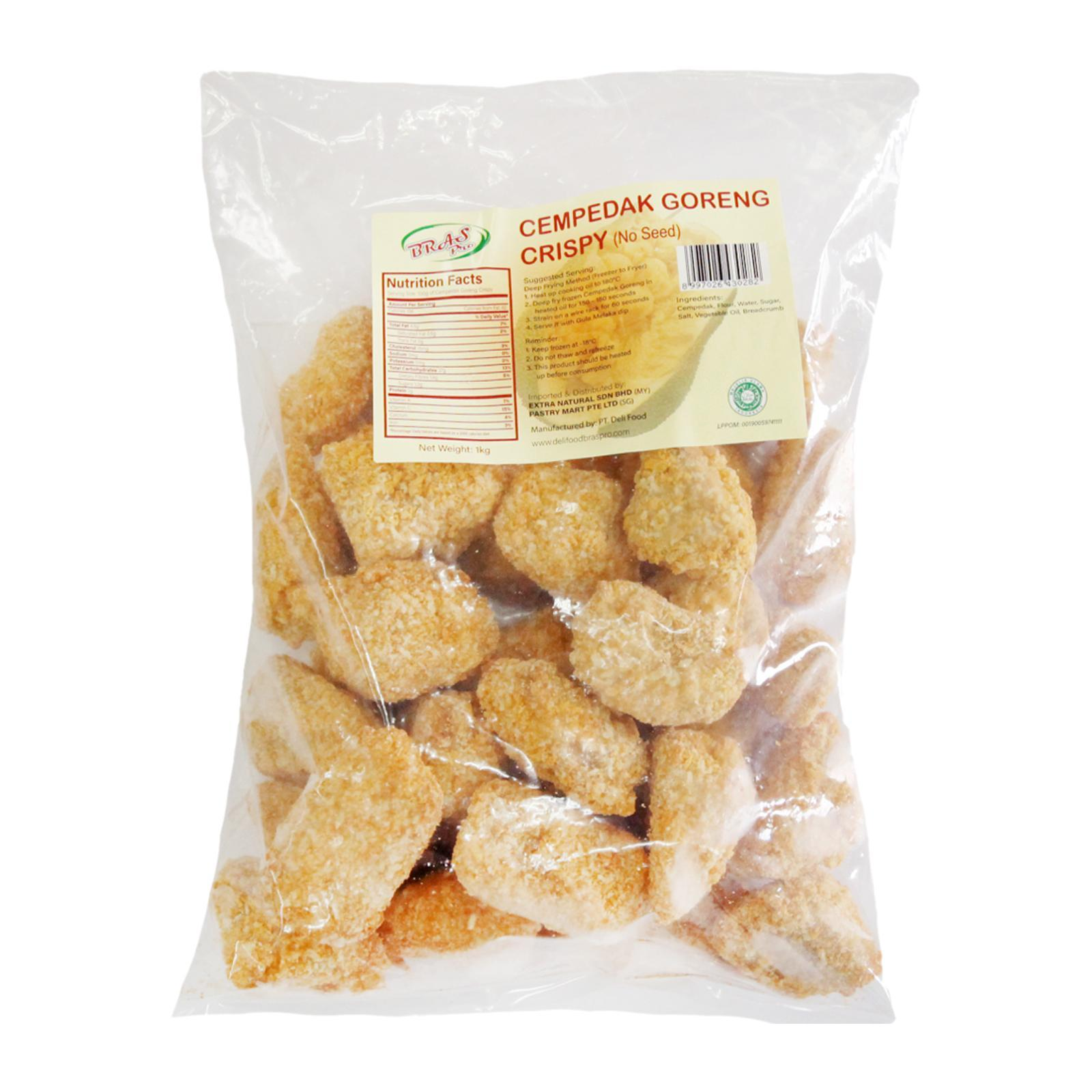 Pastry Mart Extra Natural Frozen Cempedak Goreng Snack (Without Seed) - Approx. 30 PCS - Frozen