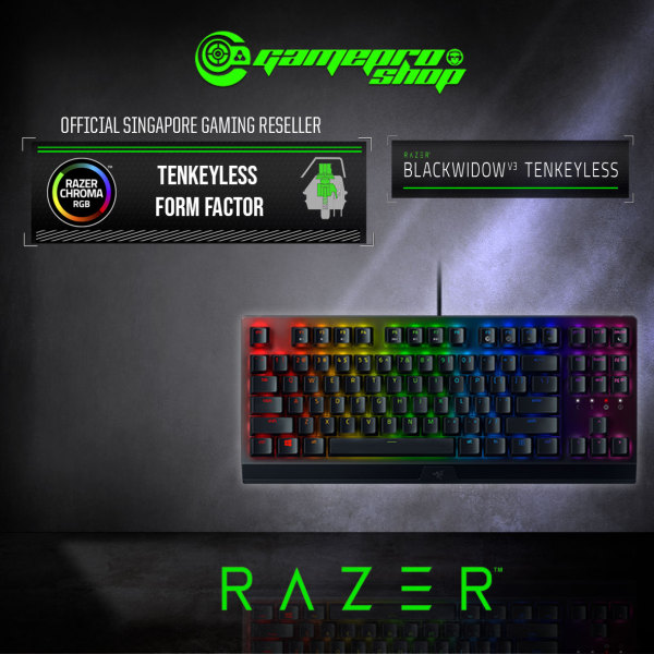 Razer BlackWidow V3 Tenkeyless Mechanical Gaming Keyboard-RZ03-03490100-R3M1 (2Y) Singapore