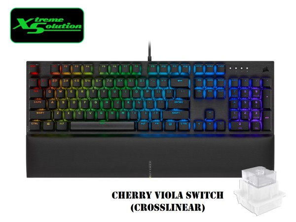 Corsair K60 RGB PRO SE Mechanical Gaming Keyboard (Cherry VIOLA Switches) Singapore