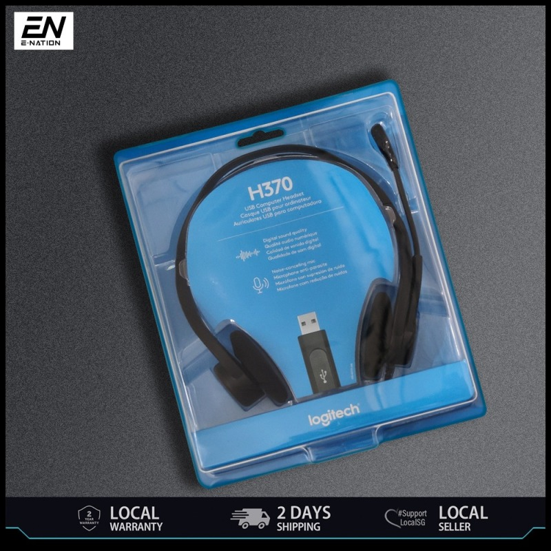 Logitech H370 USB Computer Headset with Noise Canceling Microphone Singapore