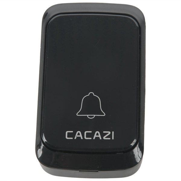 Cacazi Waterproof Wireless Doorbell Dc Battery-Operated 300M Remote Led Flashing Light Smart Home Cordless Doorbell