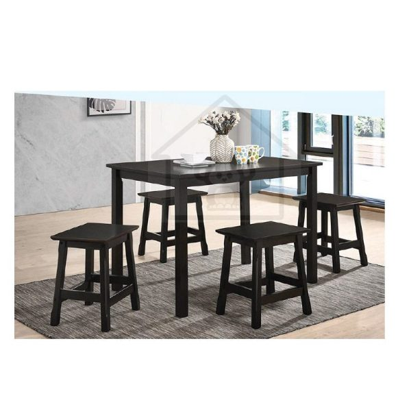DINING SET WITH 4 STOOLS/ SOLID WOOD DINING SET