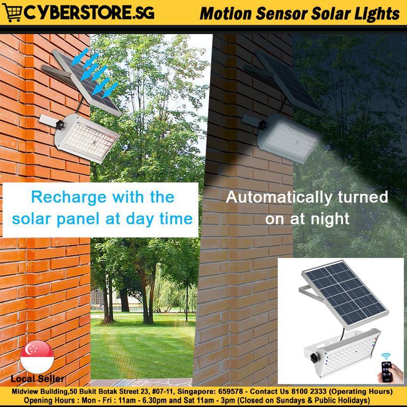 Newest 1500LM 65 LED Solar Power Street Light Microwave Radar Motion Sensor Lamps Garden Security Lamp Outdoor Street Waterproof