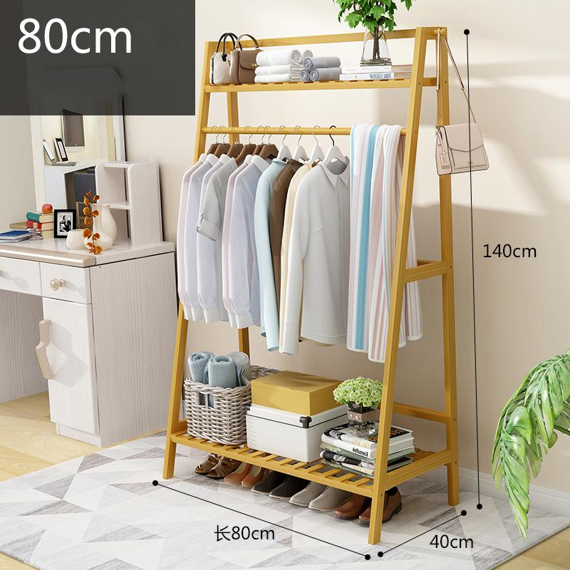 Solid wood clothes hanger landed Garment Rack Coat Organizer Storage Shelving Unit Entryway Storage Shelf 2-Tier Solid-intl