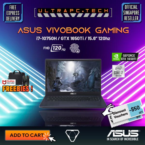 [Free Delivery] ASUS Vivobook  F571LI-AL273T Gaming Laptop 2021 (i7-10750H/16GB/GTX 1650TI/512GB SSD/15.6 FHD 120hz/W10