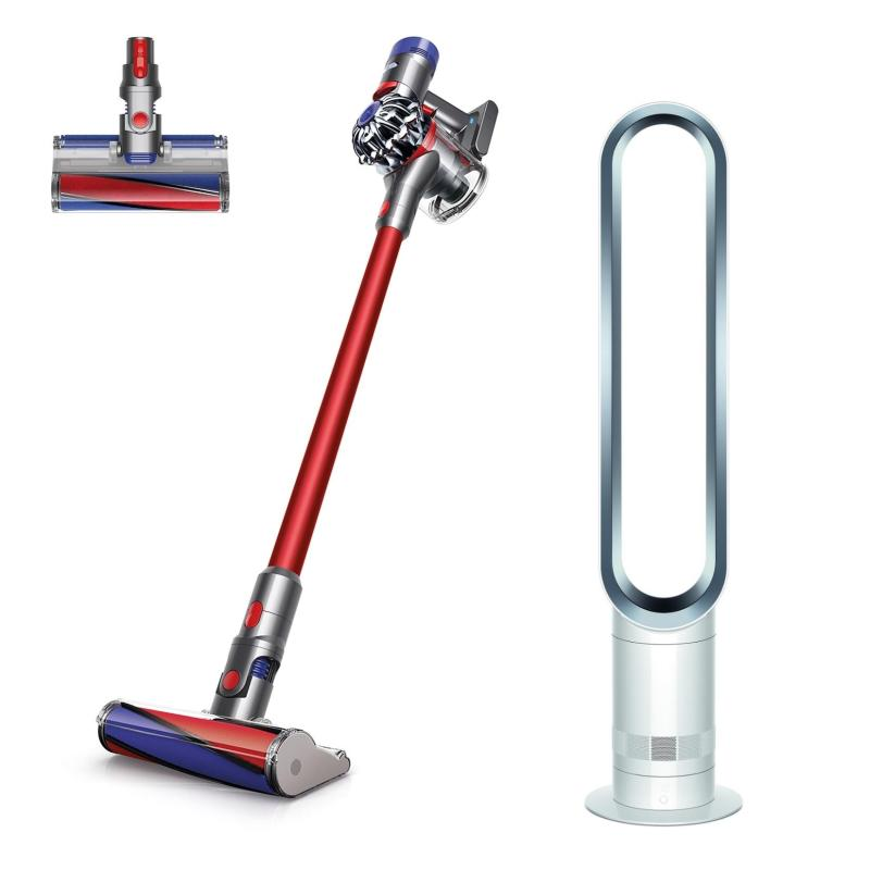 SPECIAL DEAL Dyson V7™ Fluffy+ Cord-Free Vacuum Cleaner WITH Dyson AM07 Tower Fan White/Silver Singapore