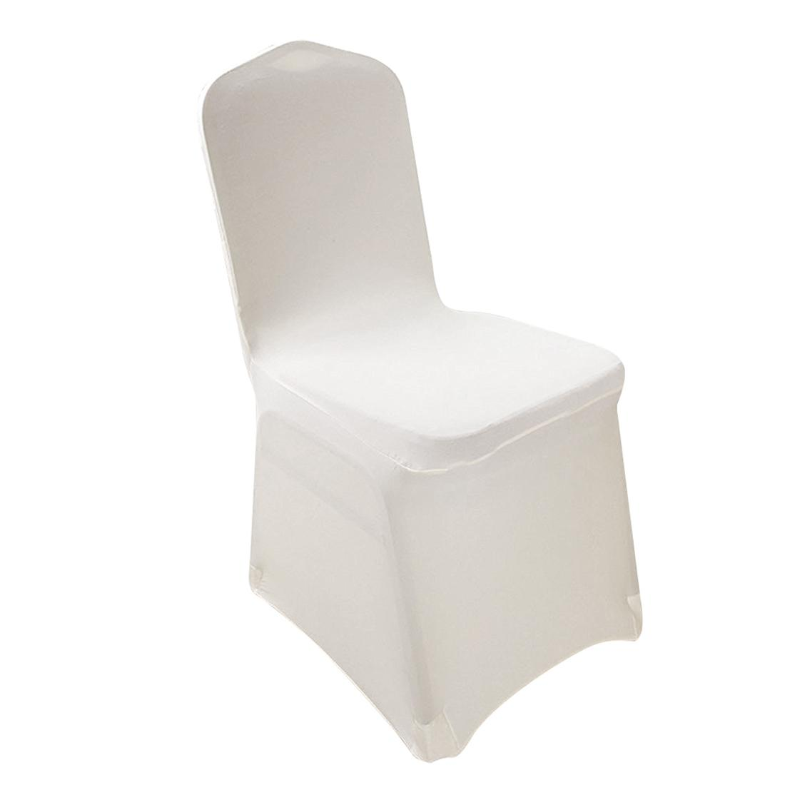 6 Pieces Elegant Stretch Strap-free Chair Covers Bi-Elastic Chair Cover made of Elastane for banquet hall