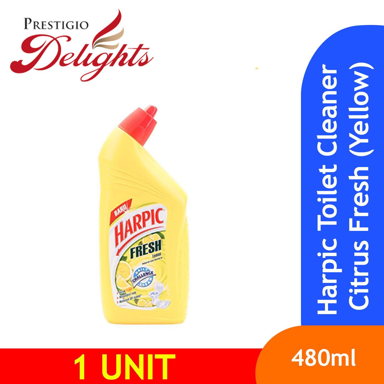 Harpic Toilet Cleaner Citrus Fresh Lemon (yellow) 450ml By Prestigio Delights.