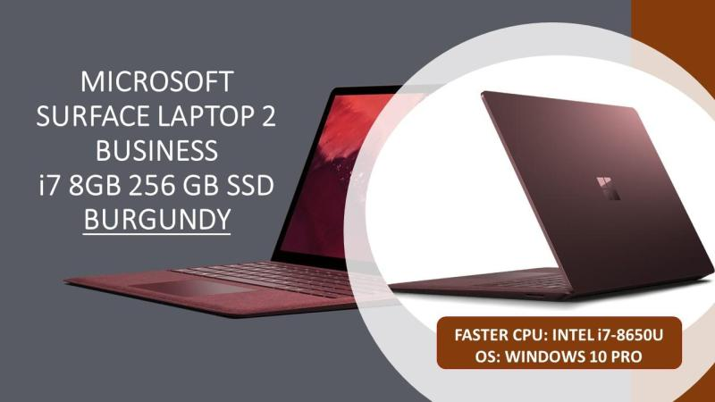 [LAPTOP SALE] MICROSOFT i7 8gb RAM 256gb SSD SURFACE LAPTOP 2 (WIN 10 PRO) in Burgundy  [ALL MS SURFACE]
