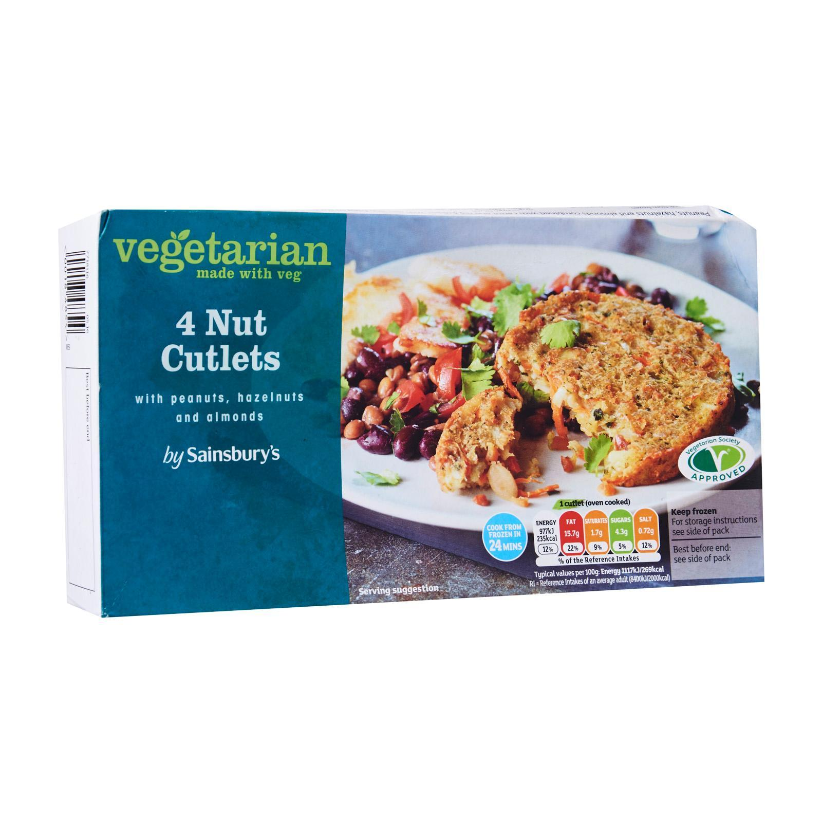 Sainsbury's Nut And Vegetable Cutlets 4S - Frozen