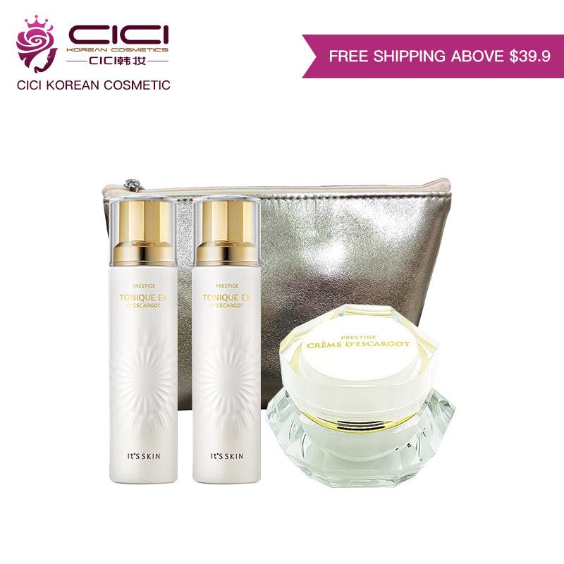 Buy [It''s Skin] Hot Korea 3 items Travel Kit/ Trial Kit ★Tonique 11ML+ Lotion 11ML+ Cream 10ML+Golden Cosmetic Bag★ 32ML Big Value Set Singapore