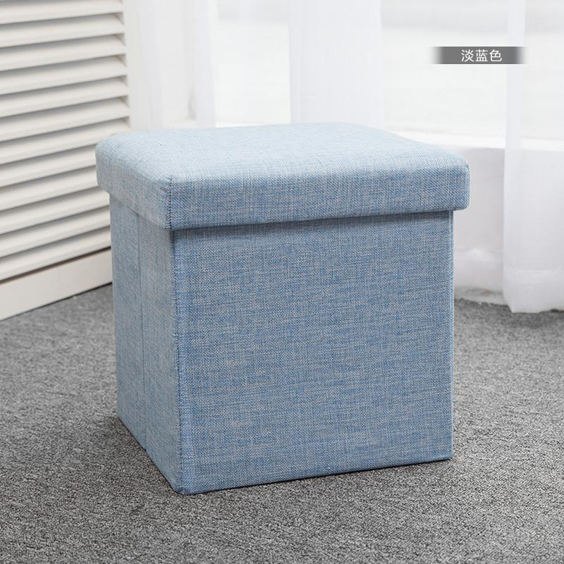 Storage Folding Stool Fabric Can Sit Small Sofa Storage Chair High Ottoman Children Fitting Room Shoes Stool