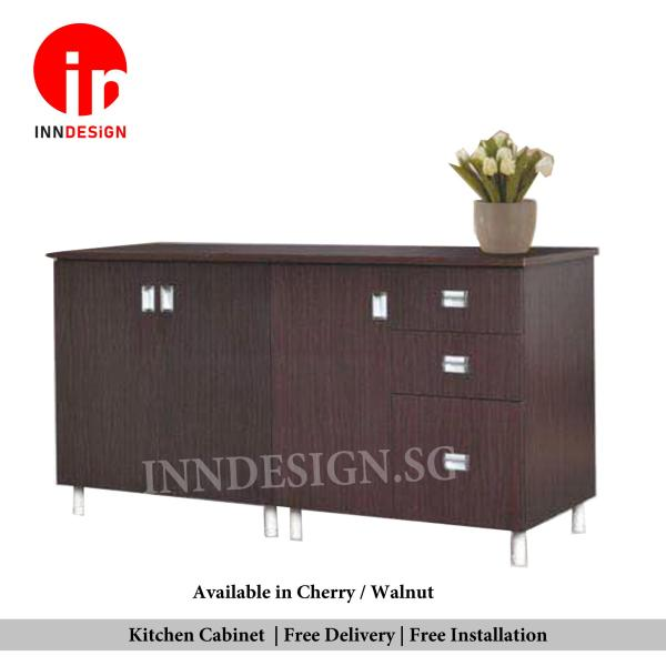 Samuel 3 Doors With Drawers Kitchen Cabinet (Can Fit Gas Cylinder) (Free Delivery and Installation) (Deliver Within 1 Working Day)
